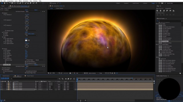 How to Create Planet Textures | After Effects | Mantra VR | Mettle