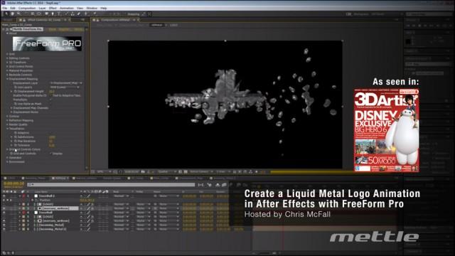 Create a Liquid Metal Logo in Ae