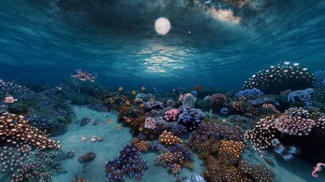 Inspiration: 360° Underwater Coral Garden | After Effects + FLUX