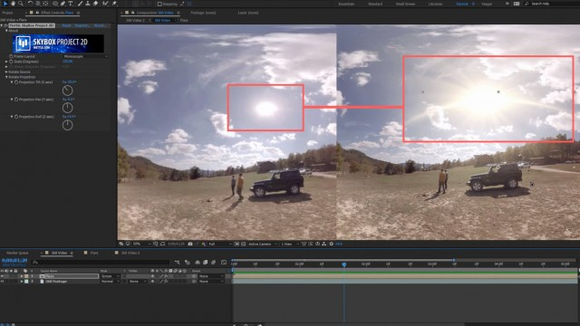 How to Add a Lens Flare to Your 360 Video   SkyBox Studio V2
