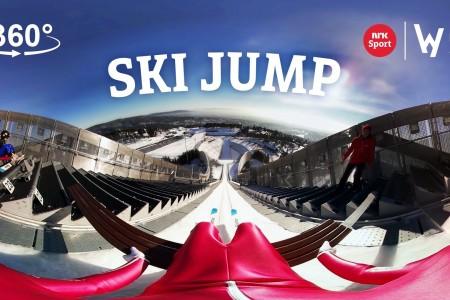 360° Ski Jump | NRK Sport (Norwegian Public Broadcasting Corp.)