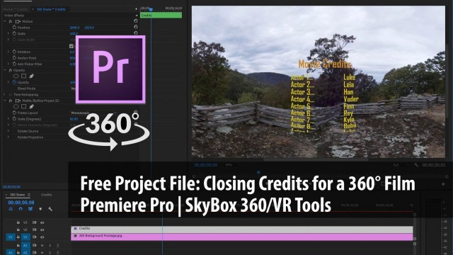 Free Project File | Closing Credits to a 360° Movie | SkyBox 360/VR Tools