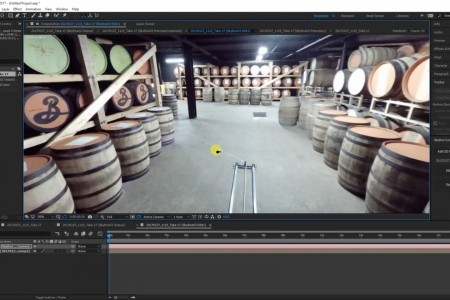 How To Remove a Speed Rail from 360 Footage   After Effects   SkyBox Studio V2  Jamie Pence