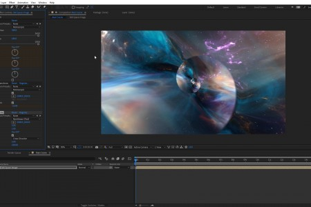 Create a Droste Effect Space Scene | After Effects | FLUX | Mantra V2