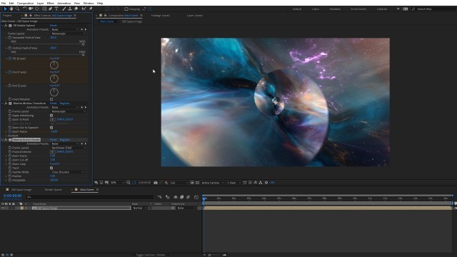 Create a Droste Effect Space Scene   After Effects   FLUX   Mantra V2
