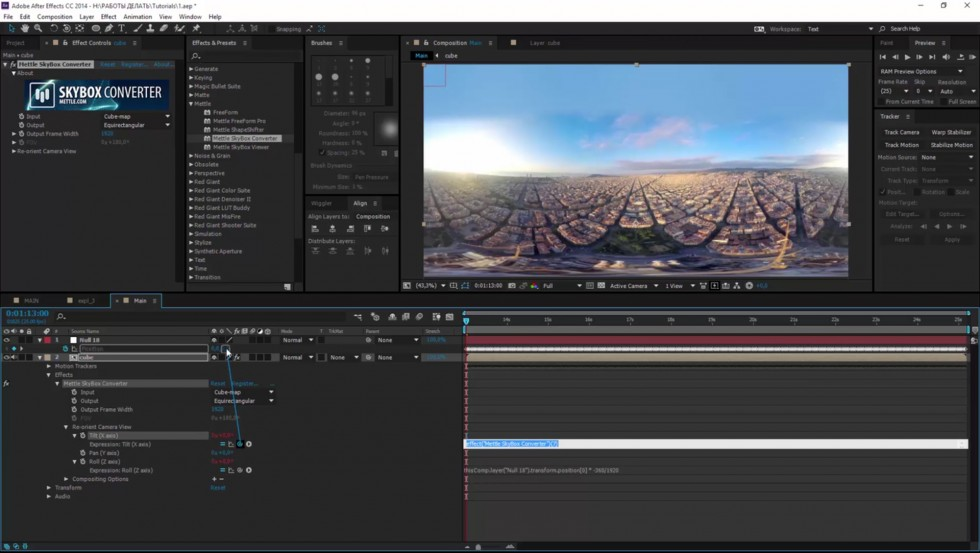 Stabilize 360 Footage And Add Vfx In After Effects