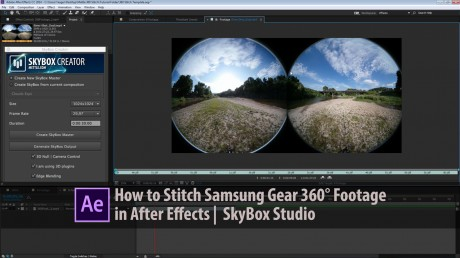 How to Stitch Samsung Gear VR 360° Footage in After Effects