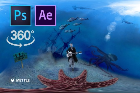Monsters of the Deep Tutorial | 360 Video from 2D PhotoShop | Aton Sanz-Katz