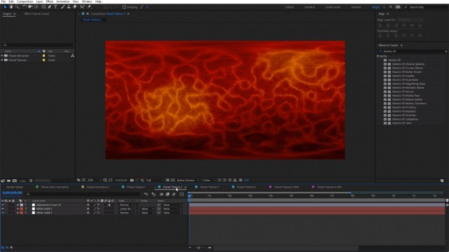 Free Project File   Planet Textures   After Effects   Mantra VR