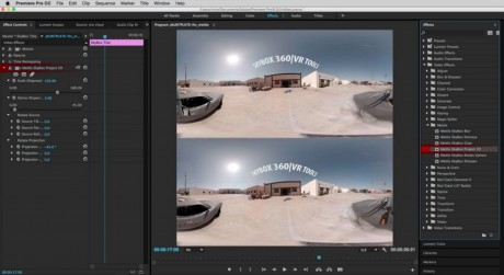How to Add Text, Graphics and FX to 360˚ Video in Premiere Pro