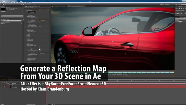 Generate a Reflection Map From Your 3D Scene in After Effects with SkyBox