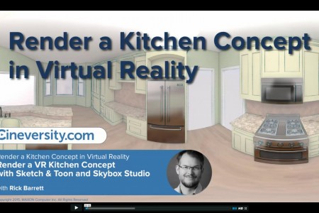 Render a Concept Kitchen in Virtual Reality