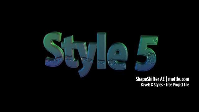 Animated Bevels ShapeShifter AE