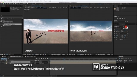 SkyBox Studio Version 2  | How to Add 2D Text onto 360 Footage with SkyBox Composer
