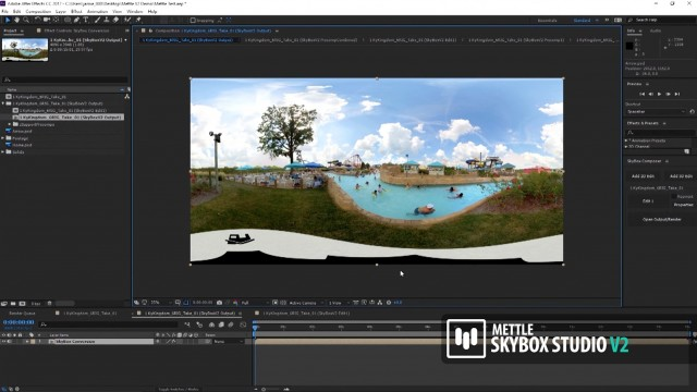 How to Remove a Camera Rig from 360 Footage in After Effects   SkyBox Studio V2   Jamie Pence