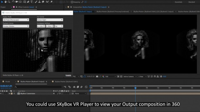 How to Make a 360° Video from a 2D Photo   FreeForm Pro   SkyBox Studio V2   After Effects