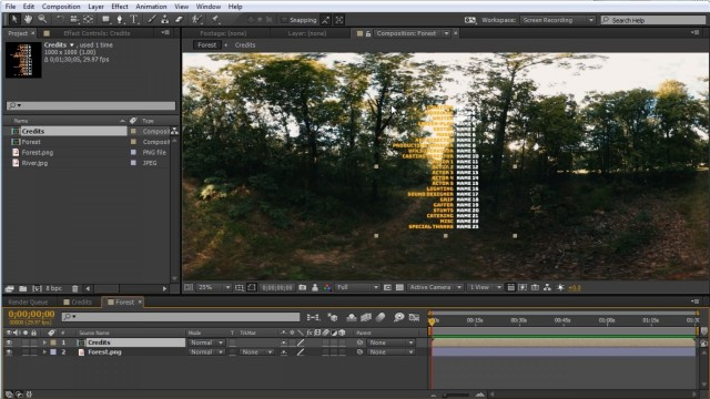 How to Add Credits to a 360° Video in After Effects + Free Project File