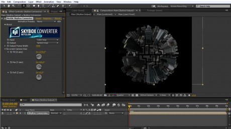How to create a Tiny Planet in After Effects using SkyBox Studio