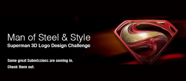 Superman 3D Logo Design Challenge