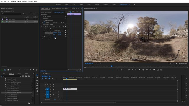 How to add a 360° Virtual Dolly in Post   Premiere Pro   Mantra VR