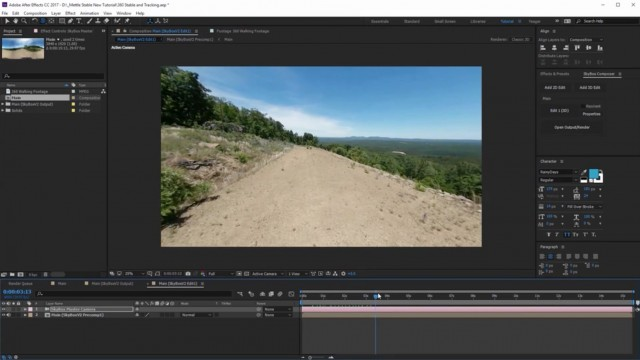 Updated – How to Stabilize 360 Footage with SkyBox Studio V2   After Effects