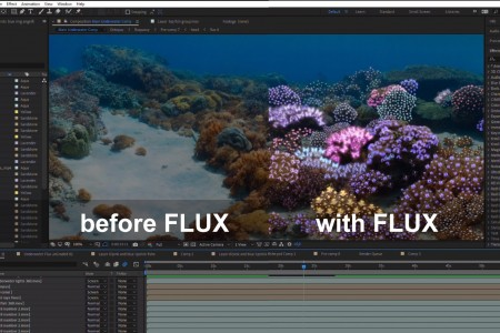 Timeline: 360° Underwater Coral Garden | After Effects | FLUX