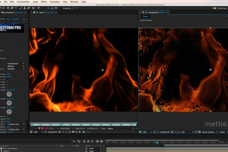 Transform Fire Footage into 3D Shapes