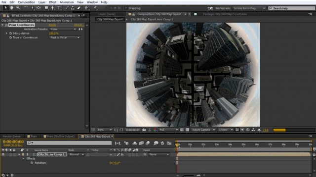 How to Create a Tiny Planet in After Effects   SkyBox Studio + Element 3D