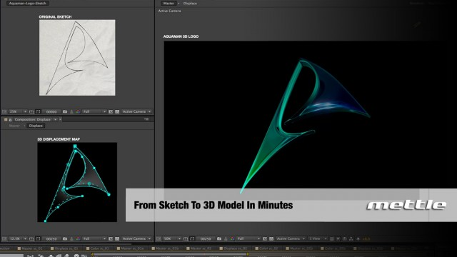 How to Make a 3D Aquaman Logo in After Effects | ShapeShifter